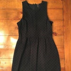 J. Crew Black Polka Dot Ponte Dress